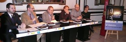 Presentación de MADferia. De izda. a dcha. Mariano de Paco Serrano, director de MADferia, Manuel Lagos, Amado Jiménez, Cristina Santaolaria,  Antonio Sarrió y Natalia Álvarez.