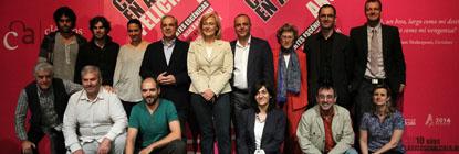La viceconsejera de Cultura de la Comunidad de Madrid, Concha Guerra con participantes del Festival