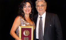 Nancy Fabiola Herrera y Plácido  Domingo. © Fidelio Artist