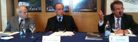 Miguel Muñiz, Gregorio Marañón y Gerard Mortier durante la presentación de la temporada. ©docenotas.com