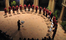 Coro femenino Vocalia Taldea que actuará el 1 de abril.