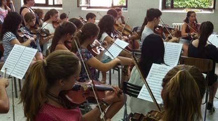 cursos de verano  El Encuentro Orquestal Sinfónico de Alba de Tormes finalizará en el Festival Joven de Segovia