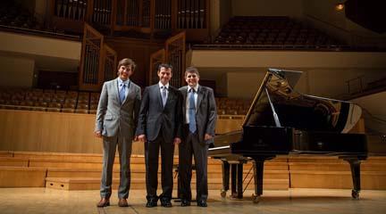 David Robledano, Félix Hazen y Javier Perianes. Cortesía Yamaha