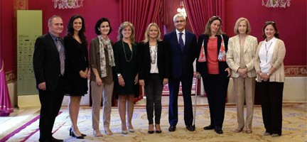 Mataboch, García-Belenguer y representantes de las asociaciones © J. del Real