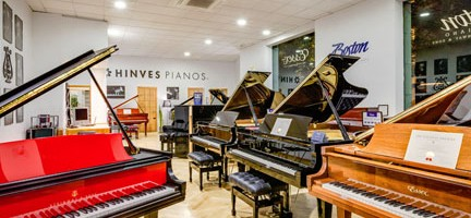 Tienda de Hinves Pianos en Granada