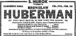 Concierto de Bronislaw Huberman