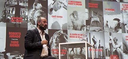 Davide Livermore en la presentación temporada del Palau de les Arts ©Tato Baeza