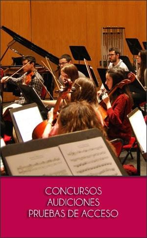 CONCURSOS   AUDICIONES   PRUEBAS DE ACCESO