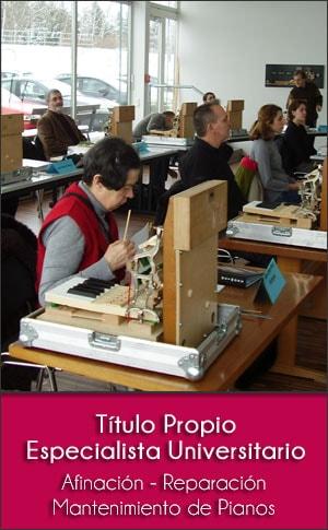 Título propio en Especialista Universitario en afinación, reparación y mantenimiento de pianos