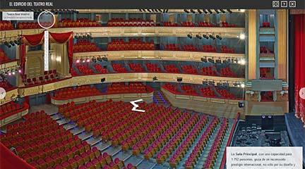 notas  El Teatro Real visto por dentro y en detalle a través de Google