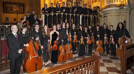 antigua  La tercera promoción de la Joven Orquesta Barroca de Andalucía en Málaga