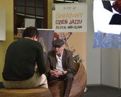 Tomasz Stańko, en un momento de la entrevista © J. Rerych