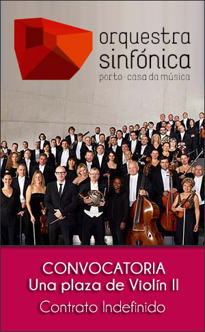 Convocatoria de una plaza de Violín II de la Orquestra Sinfónica do Porto Casa da Música