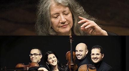 Marta Argerich © Adriano Heitman. Cuarteto Quiroga © Josep Molina