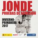 JONDE PRUEBAS ADMISIÓN 2016 2017