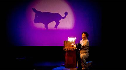 para ninos  Un trocito de luna, teatro de sombras en el Teatro Auditorio del Escorial