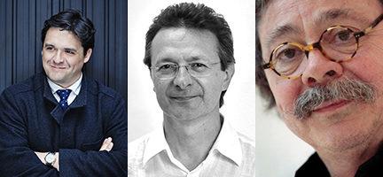 Juan Carlos Garvayo, Alfredo Aracil y Alberto Corazón