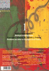 dn preliminares  Música contemporánea. Posiciones actuales en España y Francia/Musique contemporaine. Positions actuelles en Espagne et en France