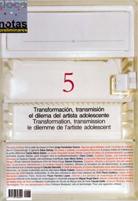 dn preliminares  Transformación, trasmisión: el dilema del artista adolescente/Transformation, transmission : le dilemme de lartiste adolescent