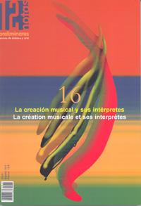 dn preliminares  La creación musical y sus intérpretes/La création musicale et ses interprètes