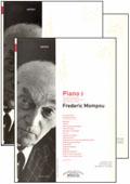 partituras  Piano 1 2 3 de Frederic Mompou