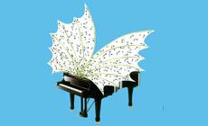 festivales  Obra de Esther Ferrer para el cartel de la 72 Quincena Musical