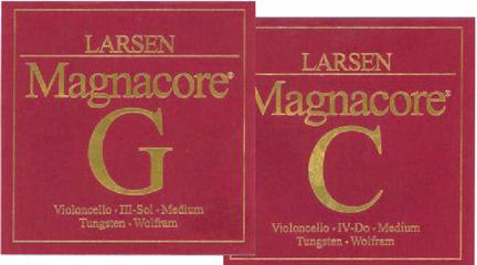 marcas  Magnacore. Cuerdas para violonchelo Larsen
