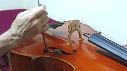 mas madera  La nota falsa o lobo en los instrumentos de arco