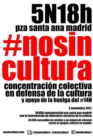 notas  Concentración colectiva en defensa de la cultura