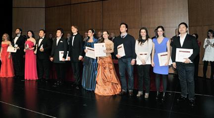 premios  Ganadores del 50 Concurso Internacional de Canto Francisco Viñas