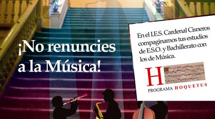actualidad de centros  El programa Hoquetus del IES Cardenal Cisneros concilia enseñanzas generales y musicales