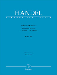 partituras  Acis and Galatea, de Handel
