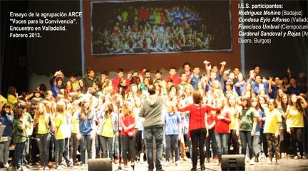 actualidad de centros  Recital coral y presentación del proyecto educativo Voces para la Convivencia