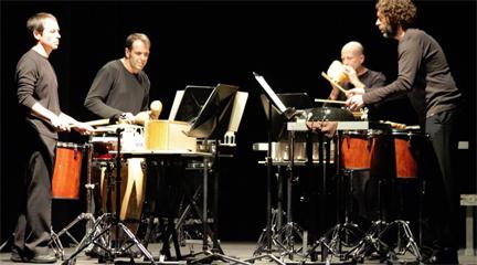 contemporanea  Redobles contemporáneos del ConjuntoYnstrumental Cuarteto de percusión
