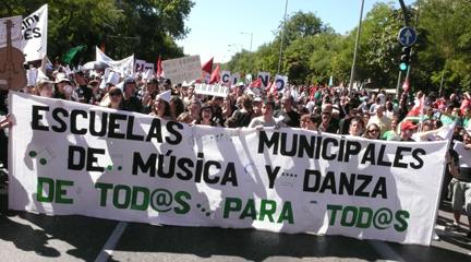 actualidad de centros  Nuevos recortes del Ayuntamiento de Madrid a las Escuelas municipales de música y danza