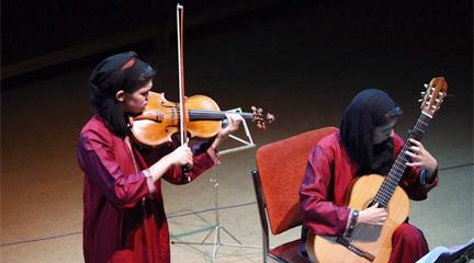 internacional  La violista Isabel Villanueva debuta en Irán de la mano de la guitarrista y compositora Golfam Khayam