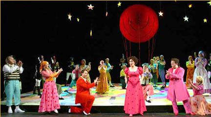 lirica  La lluvia de color de El Barbero de Sevilla cae sobre el Teatro Real