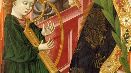antigua  El arpa en la Edad Media suena en el Museo Lázaro Galdiano
