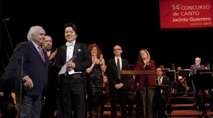 premios  Jonghoon Heo y Cristina Toledo Hijosa ganadores del Concurso Jacinto Guerrero
