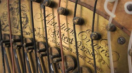 lutheria  Un arpa de la firma Erard para la colección del MIMMA