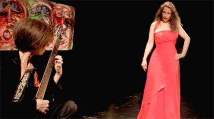 lirica  Mikrópera Painting, un espacio pintado a través del canto, la guitarra y el espectáculo multimedia