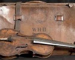 Violín y maleta de Wallace Hartley Titanic