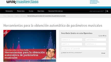 universidad  Herramientas para la obtención automática de parámetros musicales