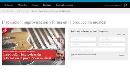 universidad  Clase abierta online con David del Puerto