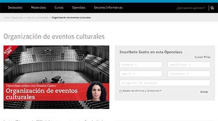 cursos  Clase abierta online de organización de eventos culturales