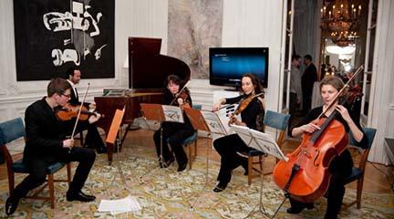 contemporanea  El Cuarteto Pergolesi y Juan Antonio Simarro en CentroCentro