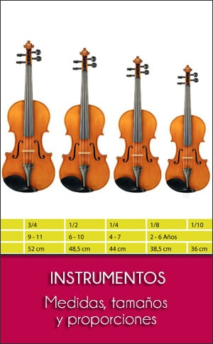 Instrumentos Musicales: Tamaños, Medidas y Proporciones
