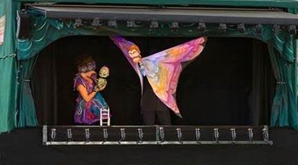 para ninos  Violeta, teatro de títeres inspirado en el cuento de Pulgarcita