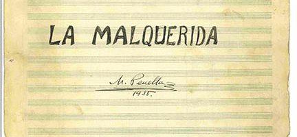 Autógrafo orquestal de Manuel Penella de La malquerida (Archivo SGAE)