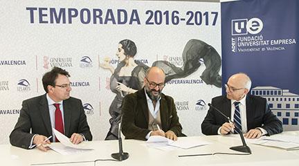 notas  Firma del convenio de cooperación entre la Fundación ADEIT y el Palau de les Arts Reina Sofía